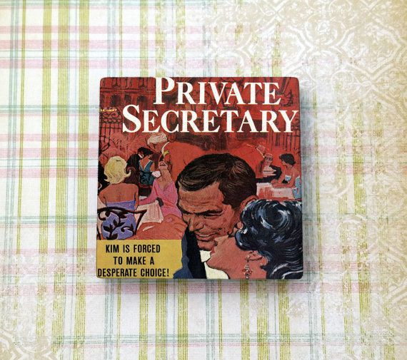 Who do you think Kim will choose? Pulp Fiction Retro Art Private Secretary by LaughingAppleDesigns on Etsy $4.