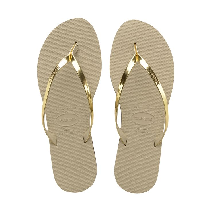 Women's Sand Grey/Light Golden You Flip Flop - Havaianas