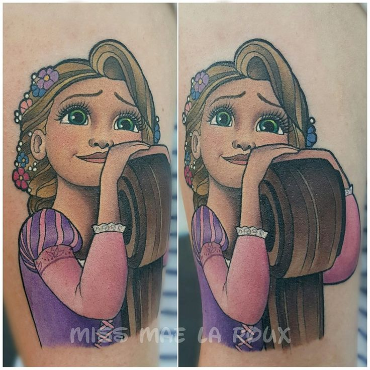 Rapunzel (Tattoo by MissMaeTattoo @Facebook) #Tangled