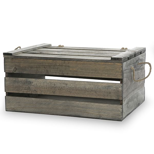 15 wooden crate storage box with lid large 15in baskets pinterest the o 39 jays trading. Black Bedroom Furniture Sets. Home Design Ideas