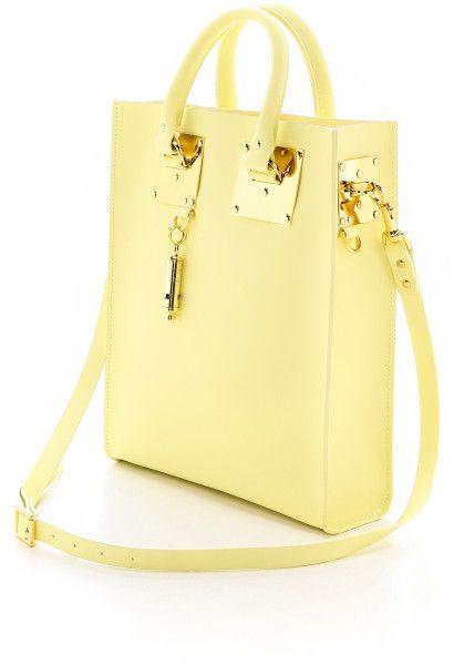 Sophie Hulme Yellow Mini Tote Bag Lemon