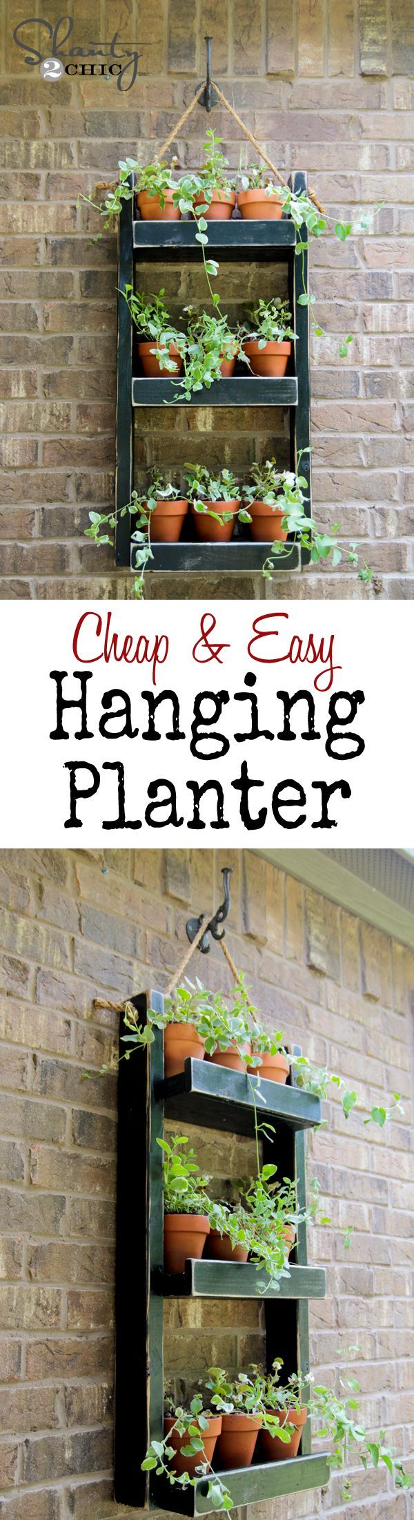 DIY- Super cheap and easy hanging planter for your home. This is also a great gift idea for your gardner friend or a house-warming gift.