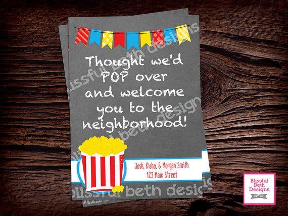 POP ON OVER, Welcome to the Neighborhood, New Neighbors, Welcome, Welcome New Neighbors, Neighborhood, New Neighbor Gift, Neighbor Gift