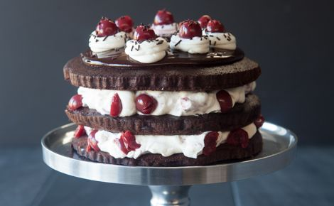 Sylvie's Gluten-Free Black Forest Cake: This was the cake of choice voted to give to the President, Sylvie Rochette, on her birthday