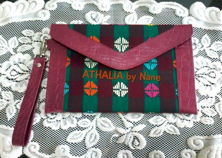 Ethnique Wristlet ~ leather with Indonesia woven product