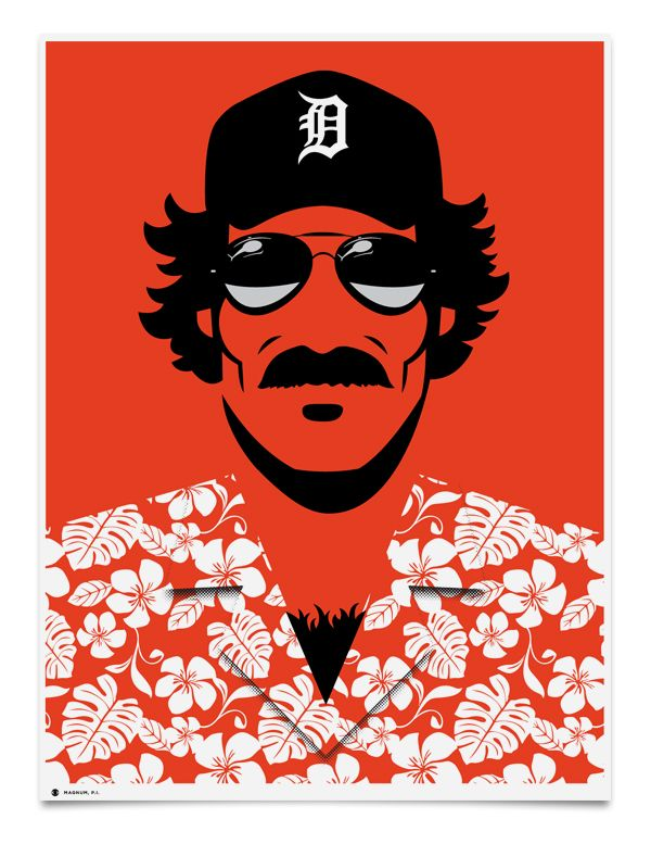 CBS Poster Series // Magnum PI I NEED THIS