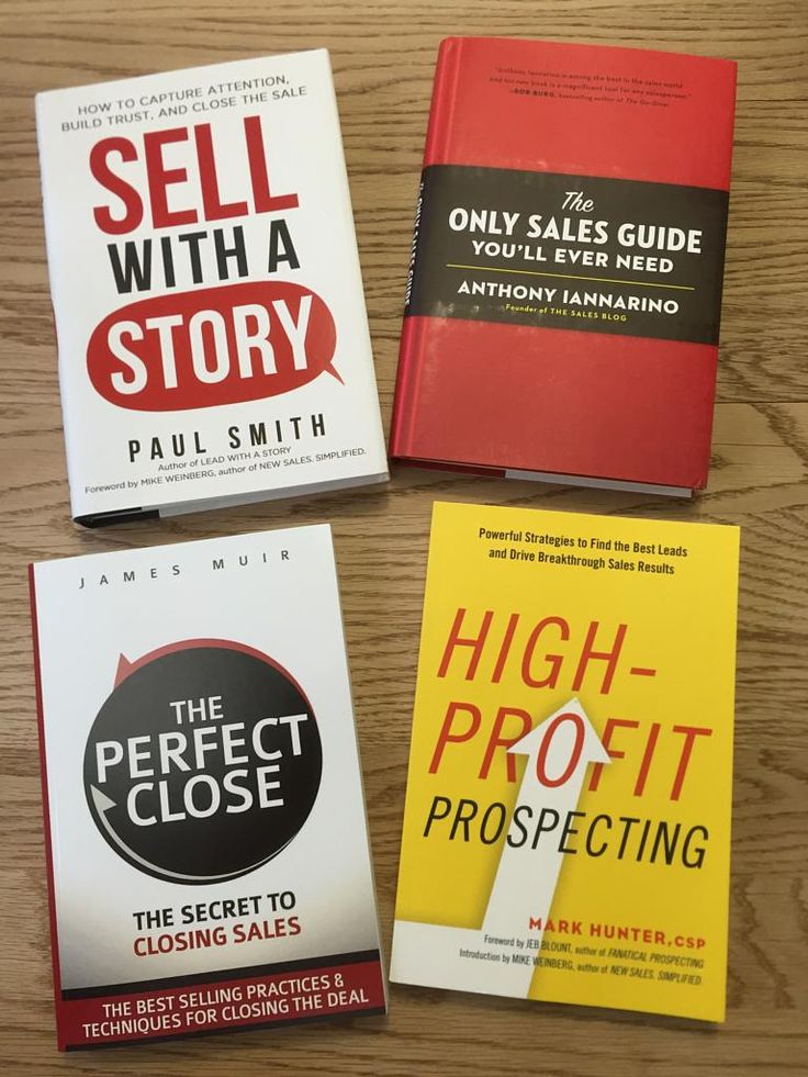 Good books about sales. Might read 'em!
