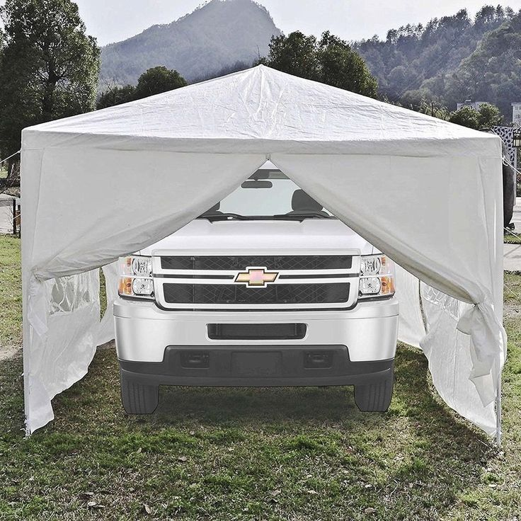 20 x 10 Portable Garage Carport Car Shelter Canopy White Outdoor Party Tent    #ALEKO