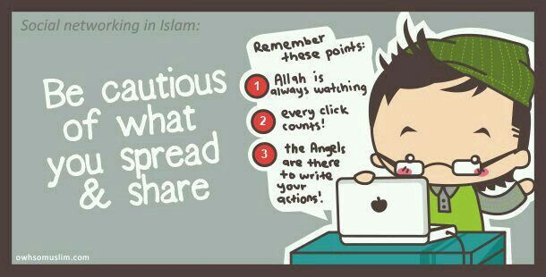 Be cautious of what you spread & share
