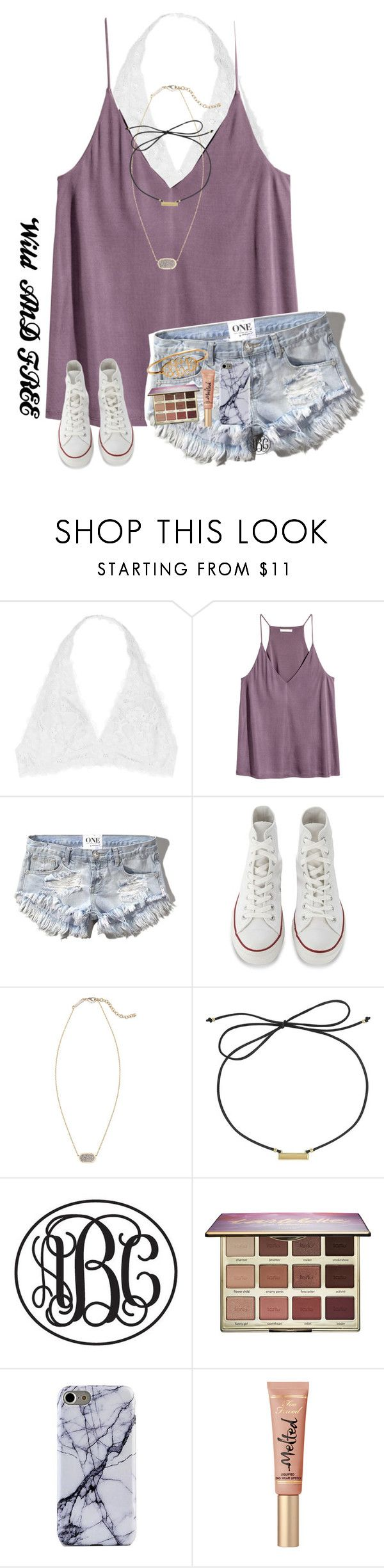 """""""(Wild and Beautiful)"""" by mckenna1 ❤ liked on Polyvore featuring Youmita, Abercrombie & Fitch, Converse, Kendra Scott, Laundry by Shelli Segal and tarte"""