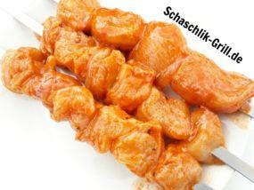 Schaschlik mit Sriracha Marinade ✓ Sriracha Marinade für Schaschlikspieße mit Geflügel ✓ Sriracha Schaschlik vom Mangal Schaschlik Grill ✓
