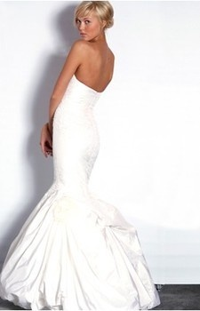 Bridal Gowns: Justina McCaffrey Mermaid Wedding Dress with Strapless Neckline and Waistline