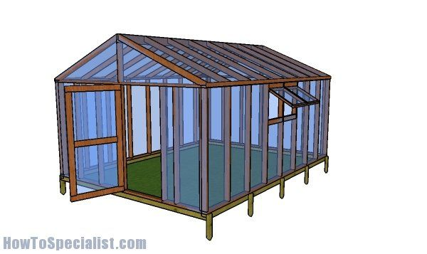 12x16 Greenhouse Plans Free Pdf Download Howtospecialist How To Build Step By Step Diy Plans In 2020 Wood Greenhouse Plans Greenhouse Plans Wooden Greenhouses