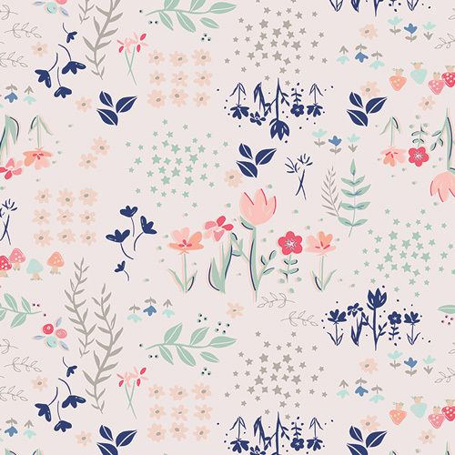 Library Gardens - Art Gallery Cotton - 1/2 yard - Funky Monkey Fabrics Inc.