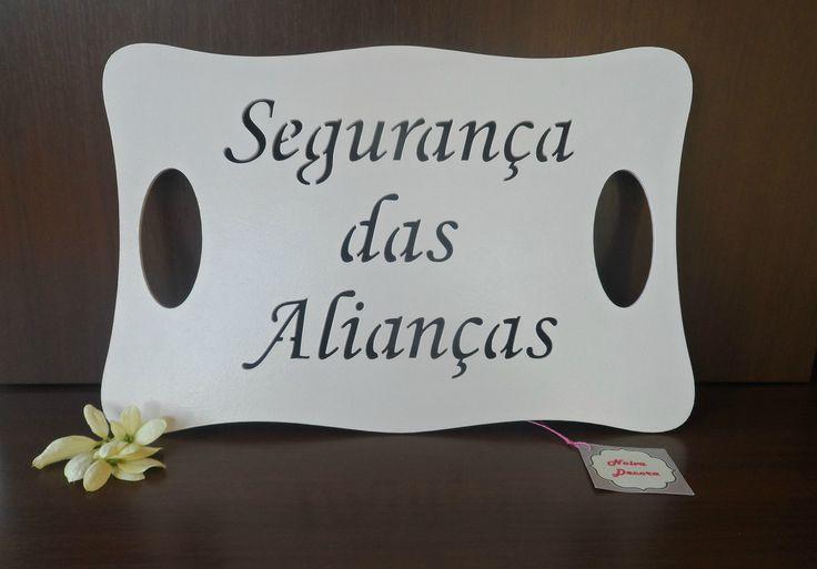 Placa Casamento - Segurança das Alianças