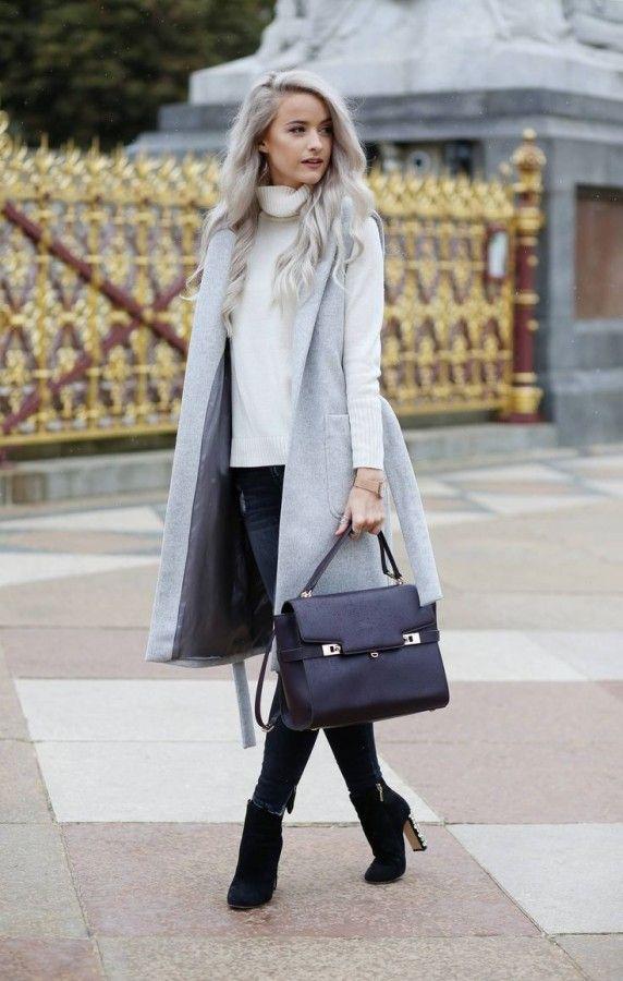 Как носить удлиненный жилет, чтобы выглядеть стильно 6