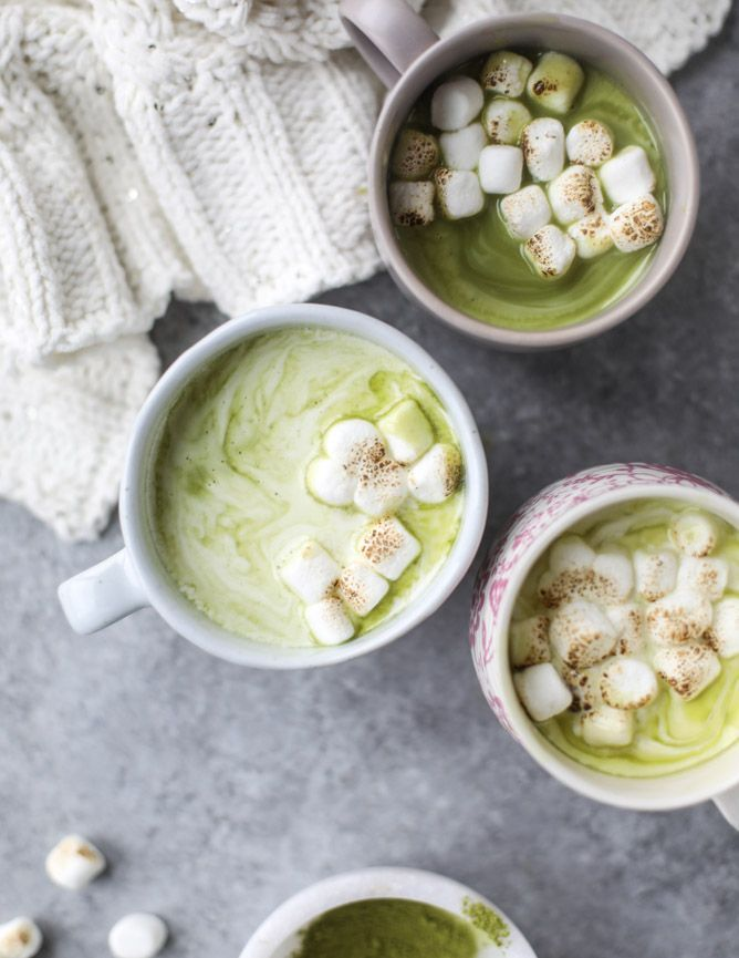 Matcha Honey Hot Chocolate