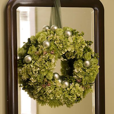 Double the Drama | Try hanging a wreath on a mirror in your home. The reflection adds depth and interest.