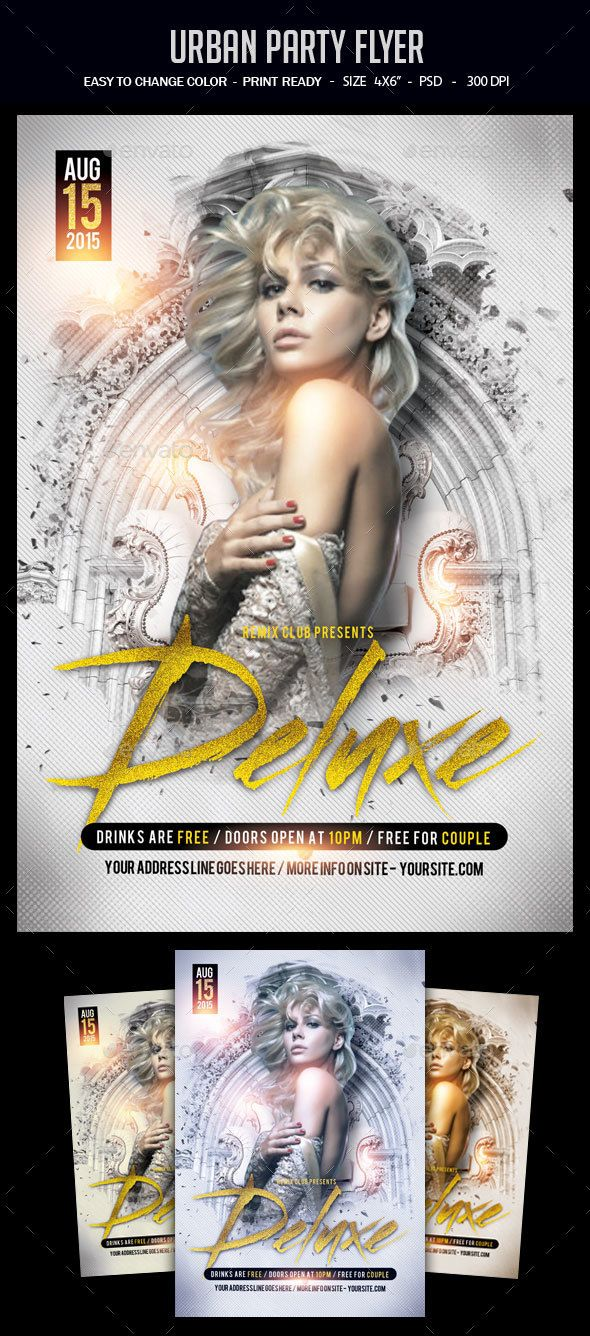 Deluxe Party Flyer Template PSD. Download here…