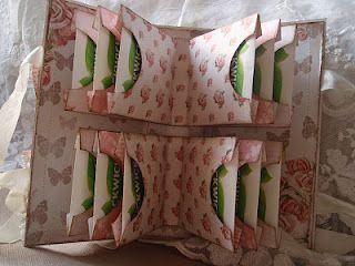 Mini album - tea bag holder, inside view