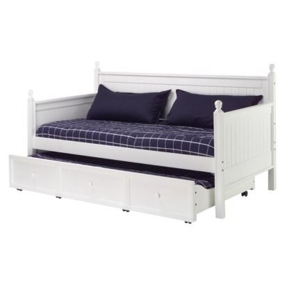 Casey Daybed With Trundle Fashion Bed Group White