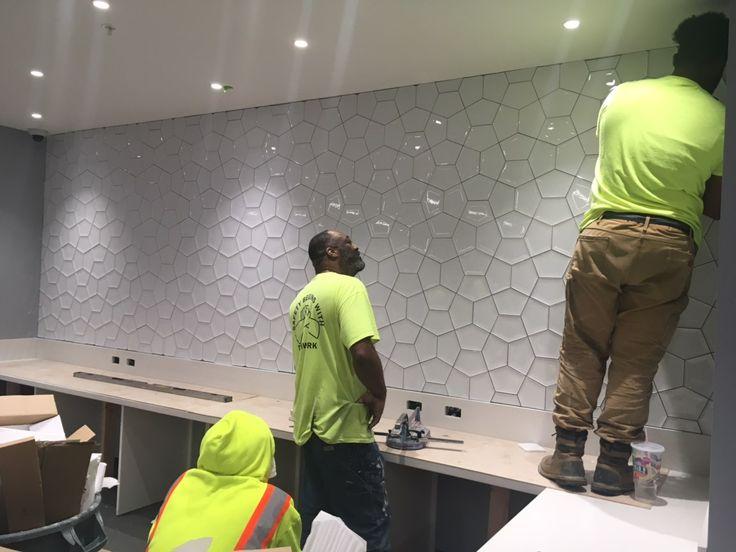 Daltile Studio D Eternal Wall Tile Em10 Ambient White Segments Accent Decor Wall Tiles