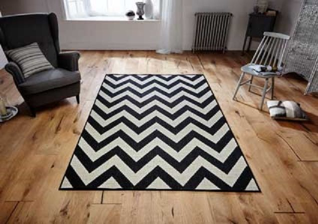 Modern Pattern Patterned Flatweave Mat Rug Runner Anti-Slip Backing MALMO 1503X