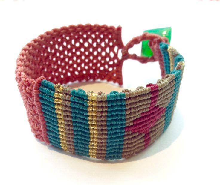 Macrame bracelet, macrame jewelry, friendship macrame bracelet, boho macrame, boho jewelry, boho bracelet by MardijewelryStore on Etsy