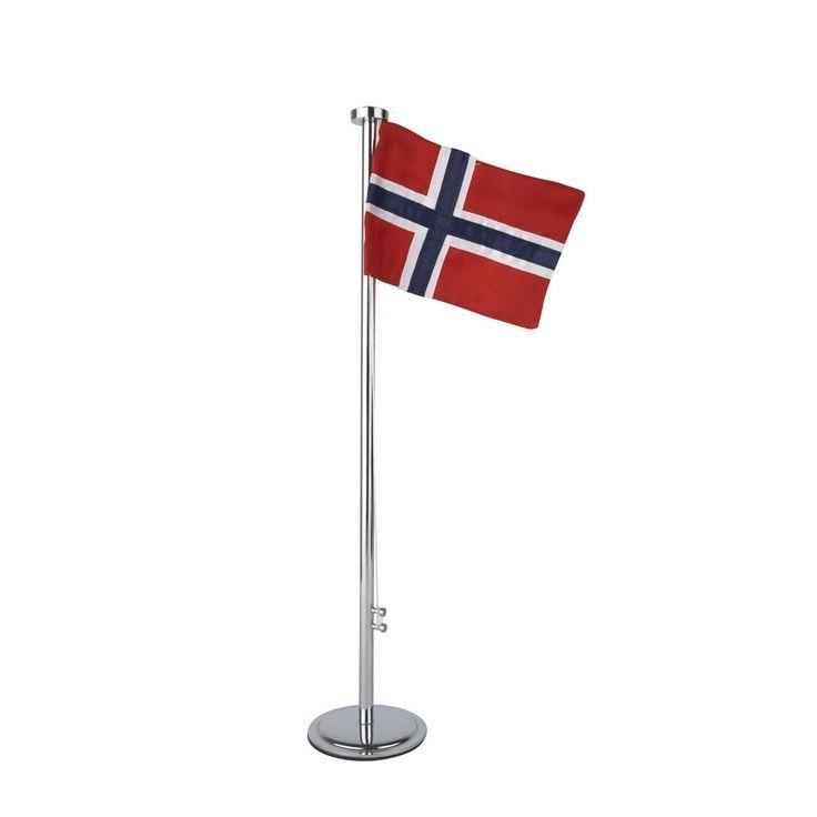 desiary.de - Fahnenstange m. Norwegen Flagge