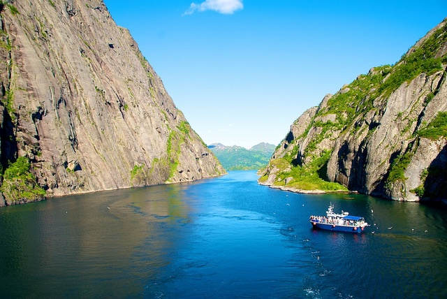 Trollfjord from the Hurtigruten ship Trollfjord