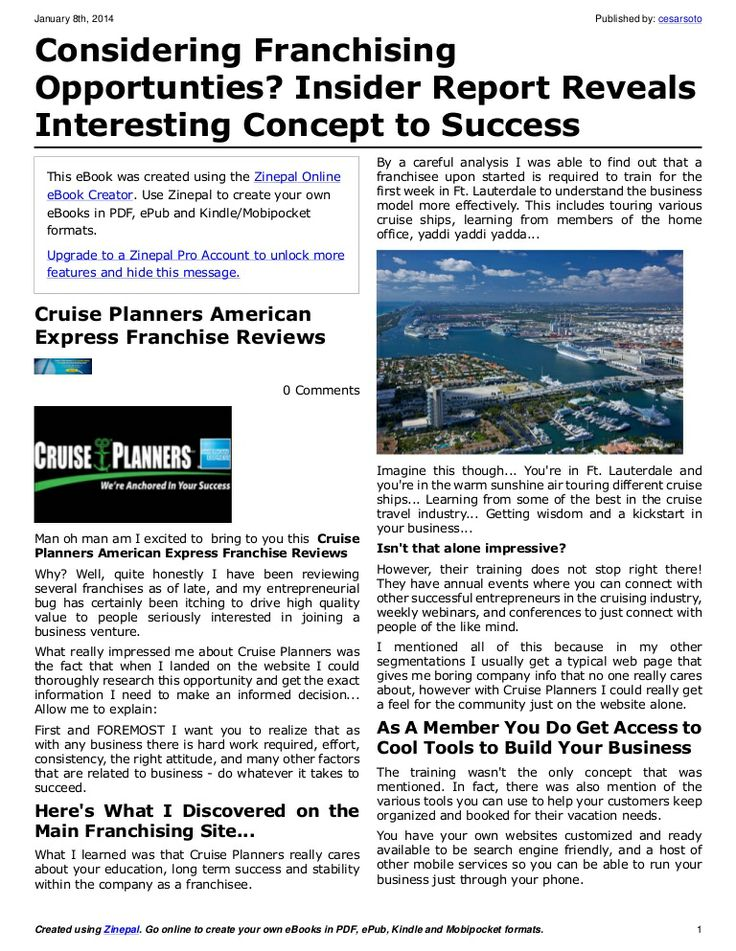 #1 Travel Agency Franchise - We're Anchored in Your Success