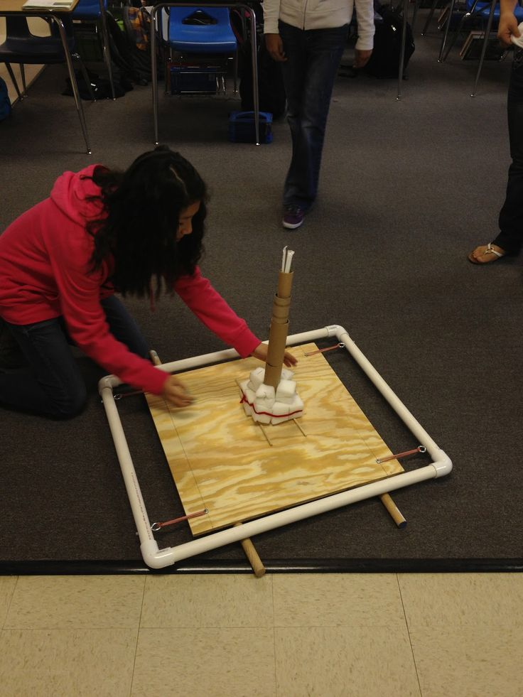 Students just finished up learning about the ins and outs of earthquakes...so to bring it all home, we designed structures that were built t...