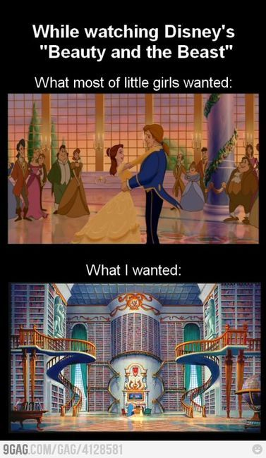 one day...: Libraries, Books, Stuff, Truth, So True, Movie, Beauty And The Beast, Disney
