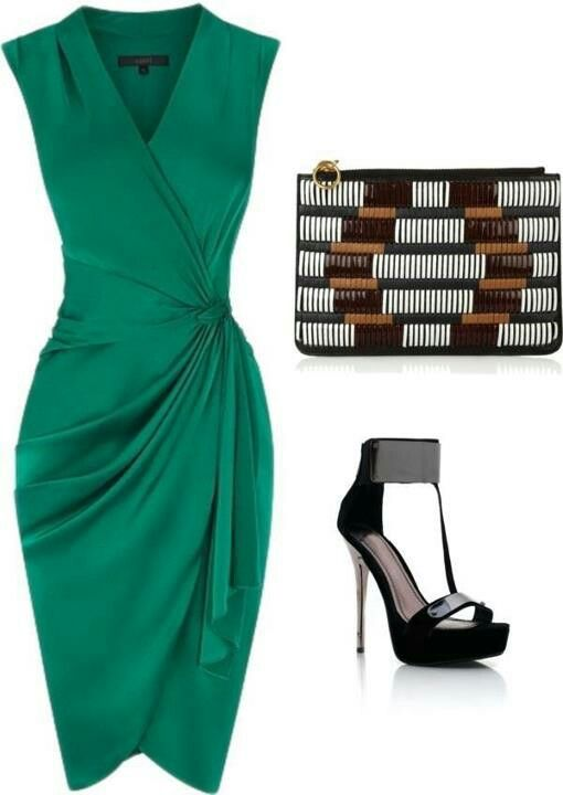 Green dress - perfect outfit for our Coraline earrings (http://fragileempire.ro/shop/cercei/cercei-coraline/ )