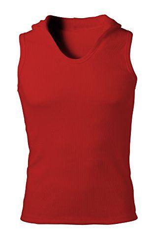 Nyfashioncity Mens Red Cotton sleeveless hoodie gym athletic tank top shirts Medium Nyfashioncity http://www.amazon.com/dp/B00WE0QFYY/ref=cm_sw_r_pi_dp_NjgCvb1TYCRQ3