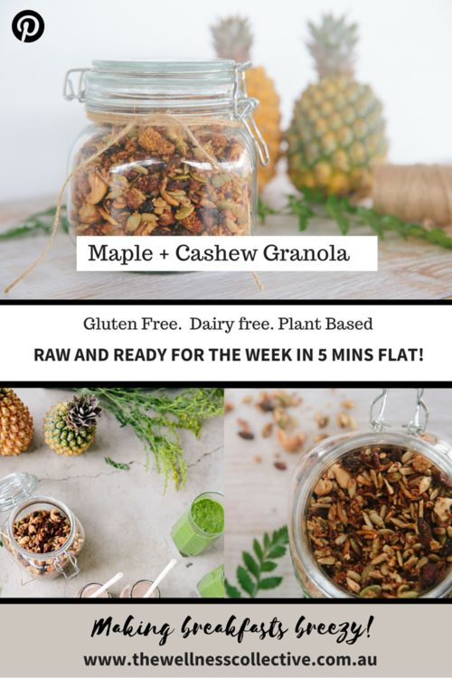 The Wellness Collective- Raw, Plant Based, Vegan, Gluten Free Granola Recipe
