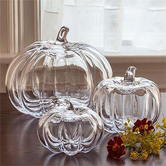 Simon Pearce Glass Pumpkins