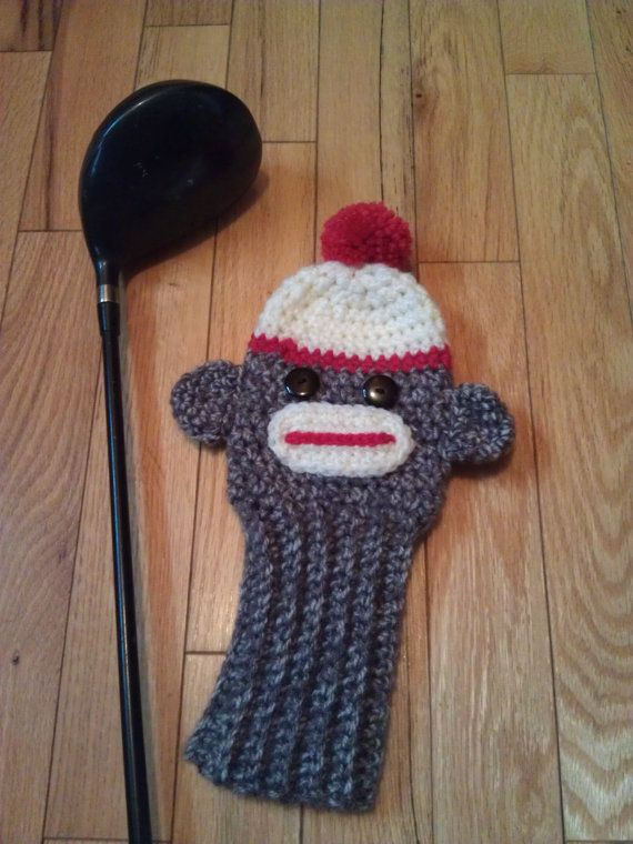Sock monkey golf club cover - pdf pattern on Etsy, $4.50