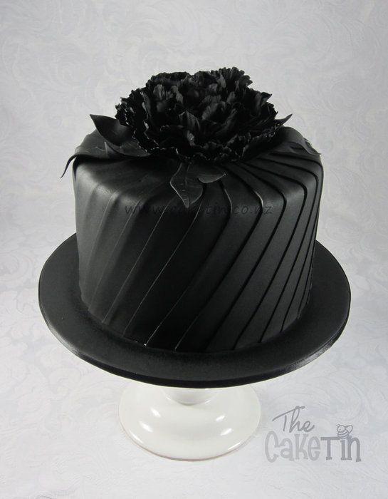 Torta Nuziale per il tema bianco e nero - Nera!