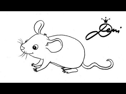 Maus schnell zeichnen lernen für Kinder How To Draw A Mouse For Kids как се рисува мишка 老鼠 - YouTube