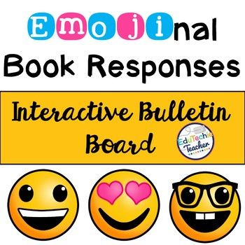 Emoji Book Responses {Interactive Bulletin Board}- Posters and interactive emoji signs for students and teachers to share about the books they've read! A great way to kick off your year and talk about summer reading!
