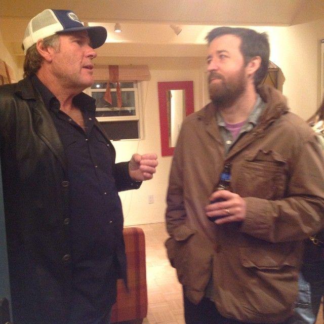longmireposse:  #RobertTaylor & Tony Tost at the #Longmire bash at @adamleath's.
