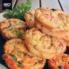 Easy breakfast or snack options: ⠀ Wheat Free Mini Quiches  6 eggs beaten until light and fluffy⠀ 60g melted butter⠀ 1 cup grated colby cheese + extra for topping⠀ 1/2 cup ground flaxseed⠀ 1 zucchini grated⠀ 1/4 cup chopped bacon⠀ 1 corn cob with corn cut off⠀ 1/4 tsp freshly ground black pepper⠀ 1/4 tsp sea salt⠀ 1/4 tsp ground cumin⠀ 1/2 tsp paprika⠀ Cherry tomatoes for top (optional)⠀ ⠀ http://180nutrition.com.au/recipes/wheat-free-mini-quiches/d⠀