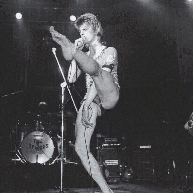 David Bowie on the Ziggy Stardust tour ❤️