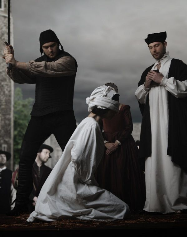 May 19, 1536, Execution of Anne Boleyn-Her ladies removed her headdress and necklaces, and then tied a blindfold over her eyes as she knelt upright in the French style for execution by the sword. Anne Boleyn was executed by French expert swordsman Jean Rombaud. According to Eric W. Ives, Rombaud was so taken by Anne, that he was shaken.