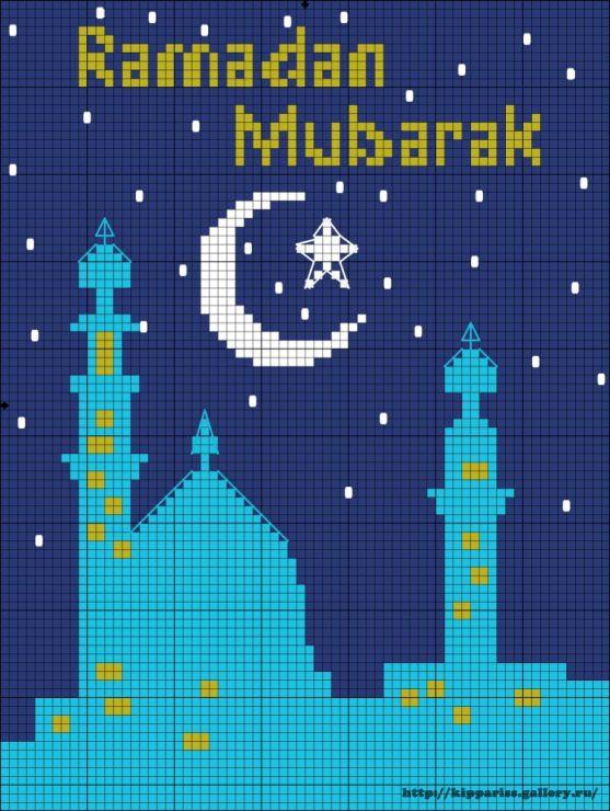 Gallery.ru / Ramadan Mubarak - Islamic cross stitch and beads by Ekaterina Gogoleva - kippariss