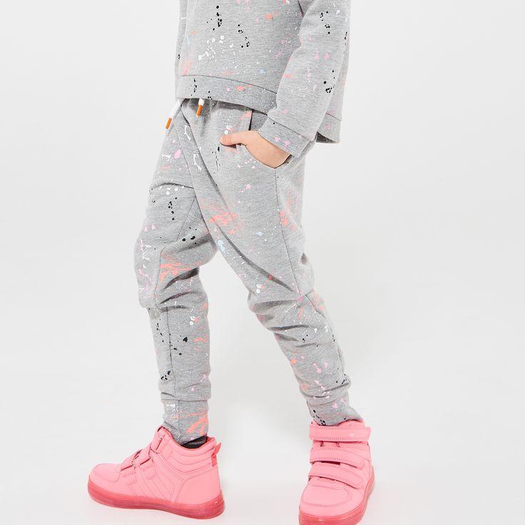 Узорчатые спортивные брюки, БРЮКИ, ШОРТЫ, серый, RESERVED