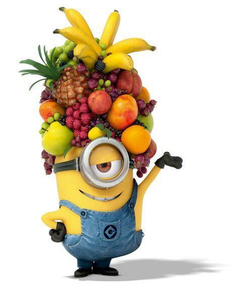 Minions corbeilles de fruits 🍌🍒🍇🍍🍏🍈🍉
