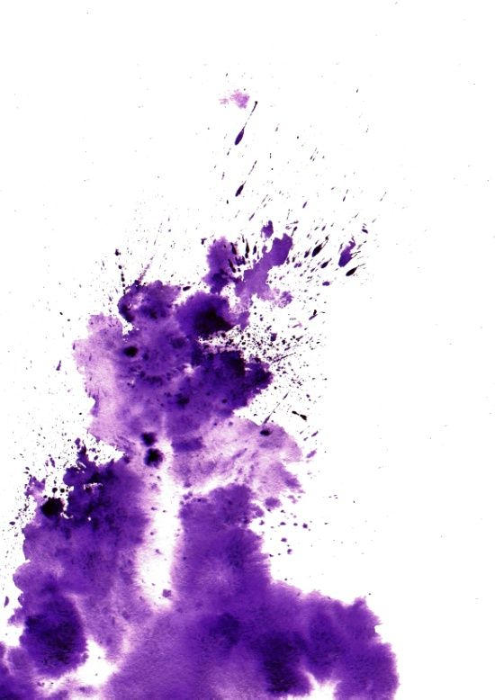 Purple Stain Art Print
