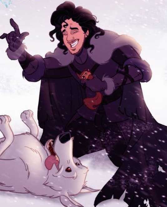 Disney Character Design Game : Game of thrones reinvented as a disney cartoon jon snow